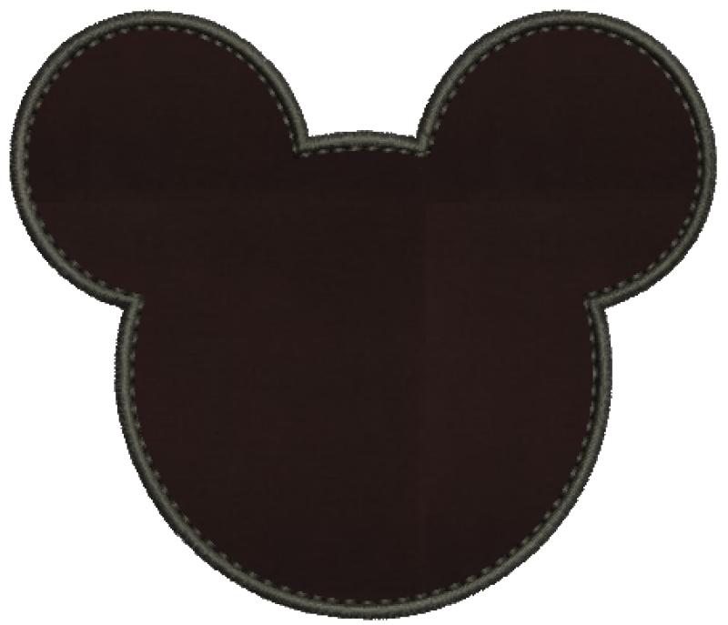Silhueta Cabeça Mickey - Aplique