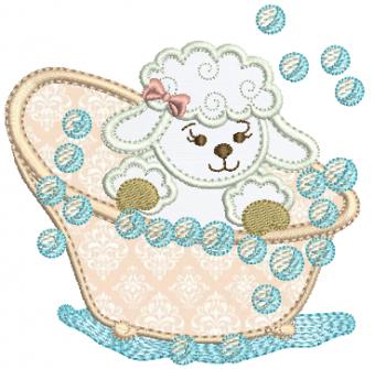Ovelha na Banheira - Aplique