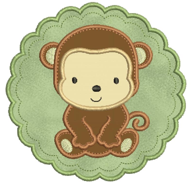 Macaco na Moldura – Aplique