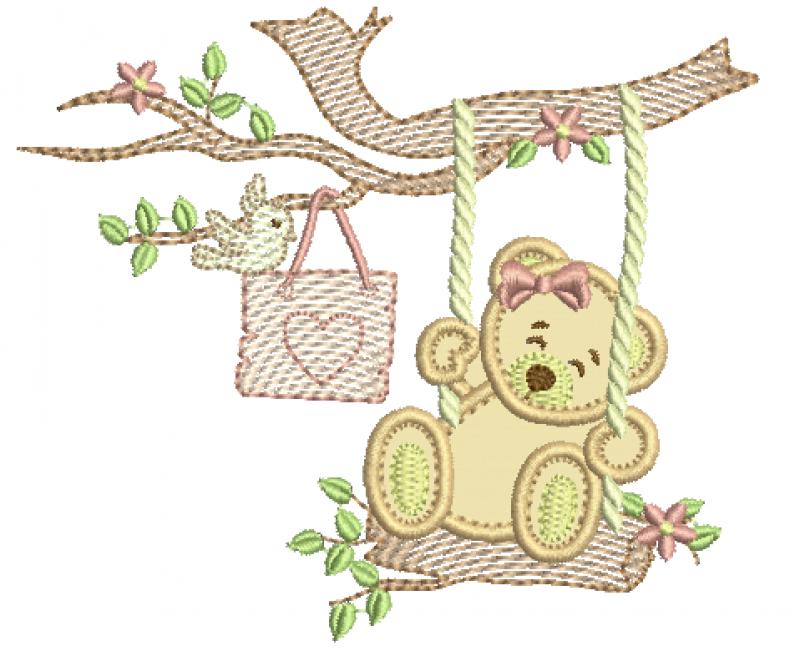 Ursa no Balanço - Aplique