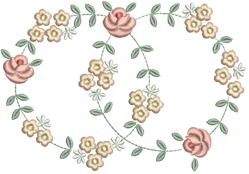 Guirlanda de Florzinhas e Rosas
