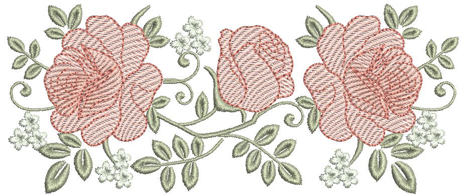 Galho de Rosas - Rippled