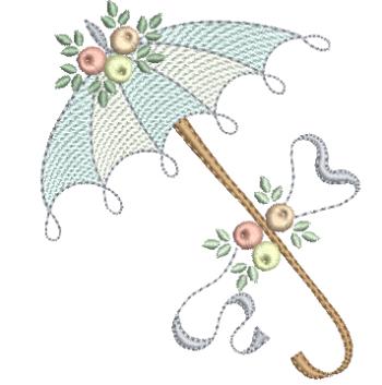 Sombrinha Delicada com Rosas Estilo Rococó