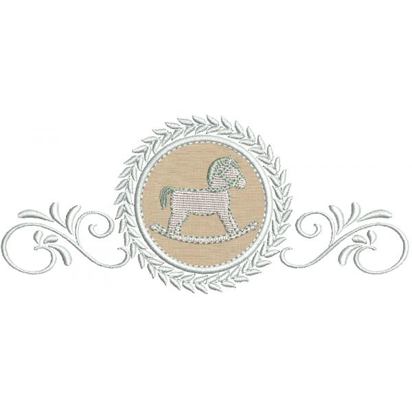 Cavalinho 2 no Ramo e Moldura Aplique