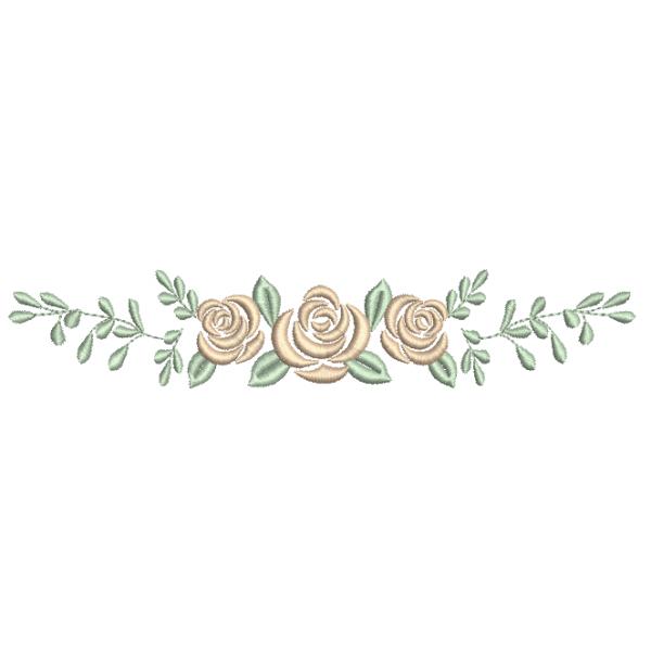 Rosas e Ramo  - Ponto Cheio