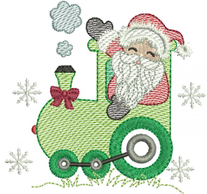 Trem natalino com Papai Noel - Rippled