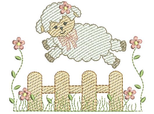 Ovelha Saltando Cerca - Rippled