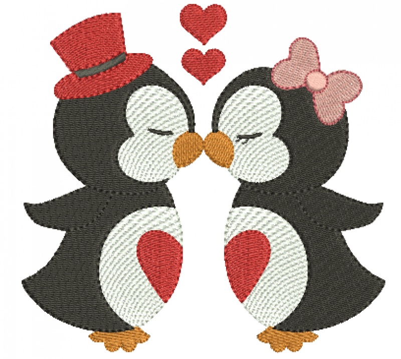 Pinguim Casal - Ponto Cheio