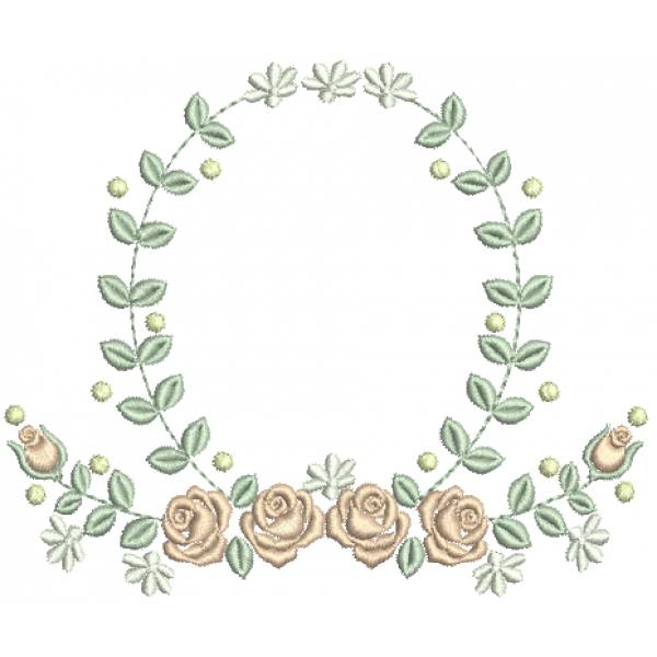 Rosas na Guirlanda - Ponto Cheio