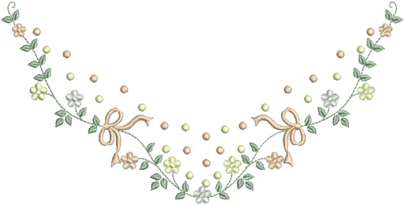 Raminho com Poá e Florzinhas Delicadas