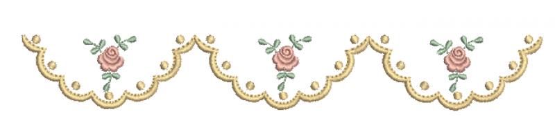 Barrinha com Bolinhas e Rosas