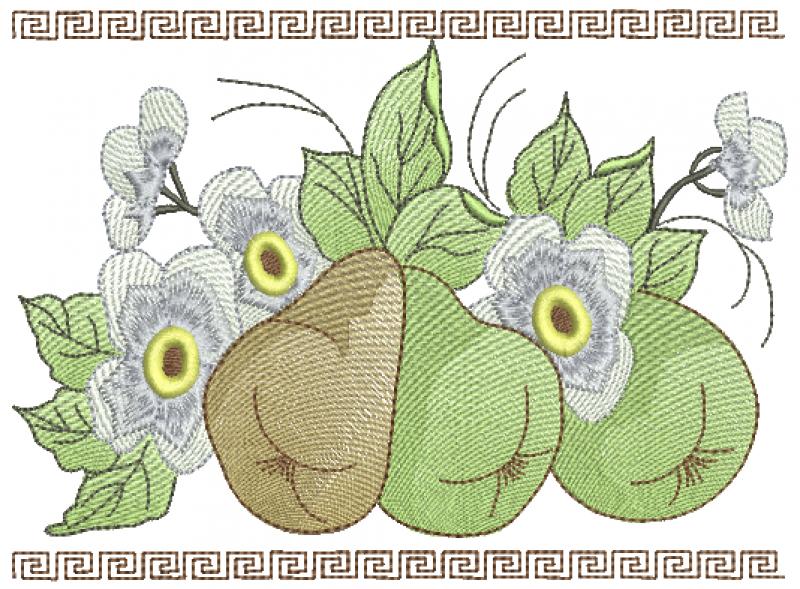Ramo de Peras e Flor - Ponto Tatame
