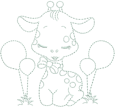 Girafa com Bexigas - Ponto Corrido