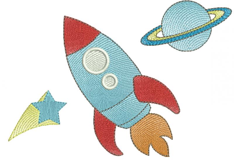 Foguete no Espaço - Rippled
