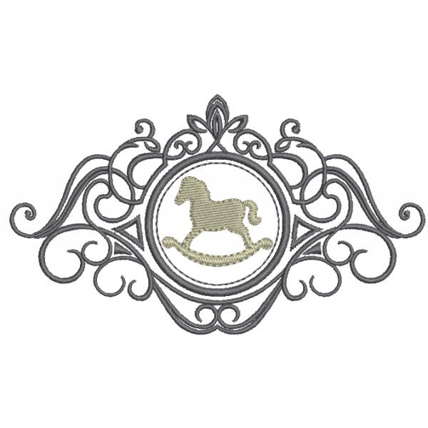 Cavalinho na Moldura - Ponto Cheio