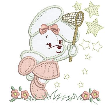 Coelha e Estrelas - Aplique