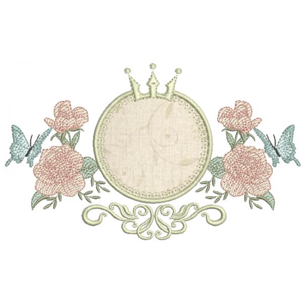 Moldura Aplique e Rosas Rippled