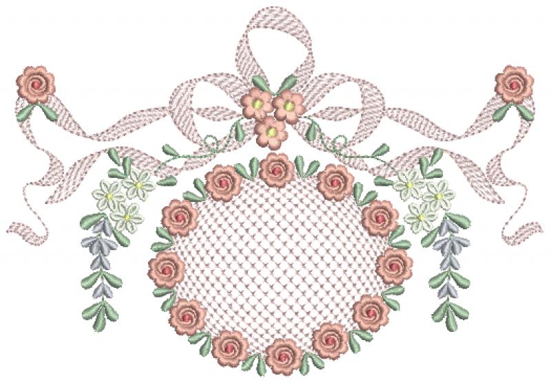 Ramo de Florzinhas com Laço em Rippled e Crivo