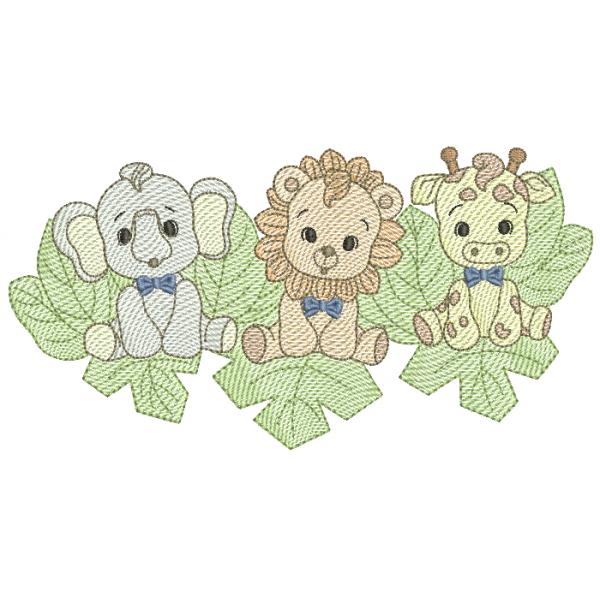 Elefante - Leão e Girafa Meninos   - Pontos Leves