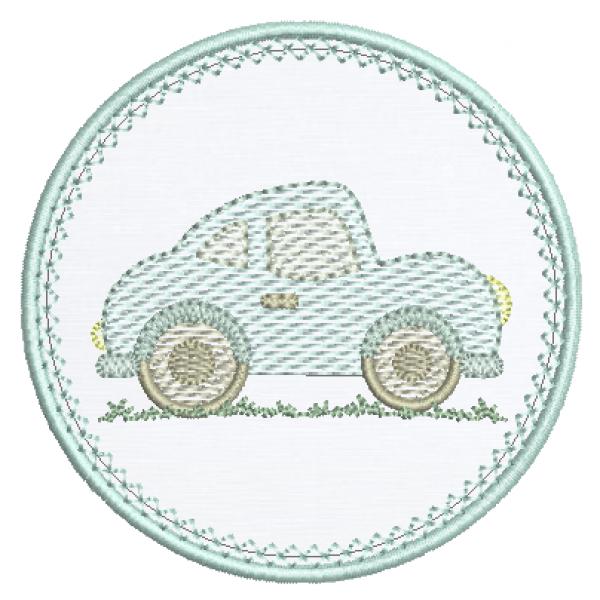 Carro e Moldura Aplique - Pontos Leves