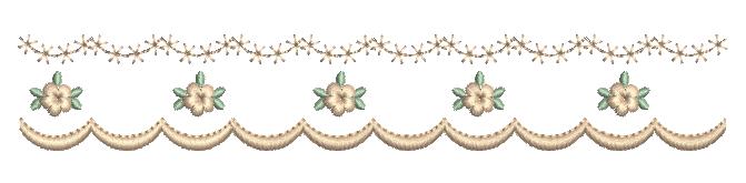Barrinha de Florzinhas Delicadas