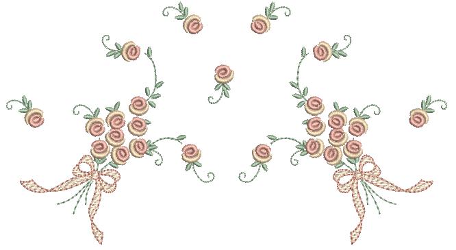 Buque de Rosas Estilo Rococó