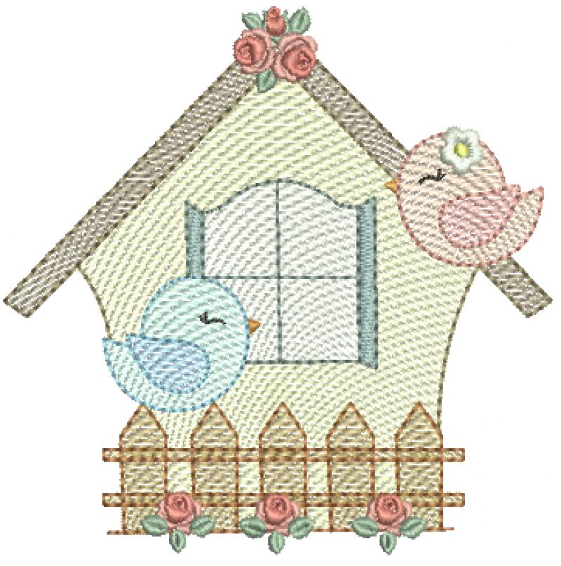 Casa com Passarinhos - Rippled
