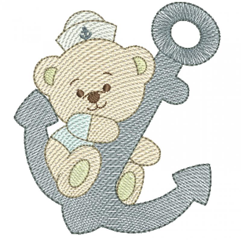 Urso marinheiro na Ãncora - Rippled