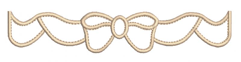 Barrado em forma de Laço - Ponto Cheio