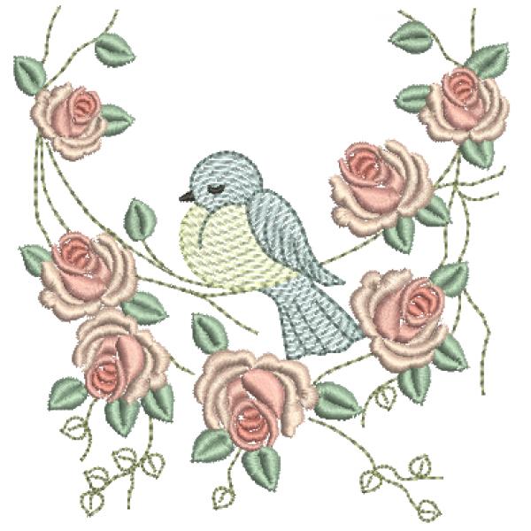 Passarinho e Rosas - Pontos Leves e Cheio