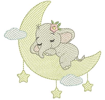 Elefanta Dormindo na Lua - Rippled