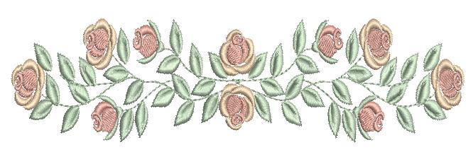 Raminho de Galho Rosas – Ponto Cheio