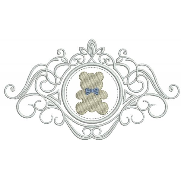 Urso na Moldura - Ponto Cheio