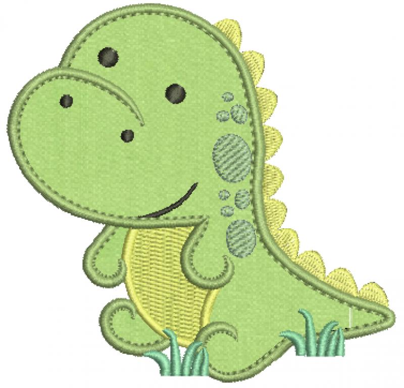 Dinossauro Tiranossauro Rex Baby - Aplique
