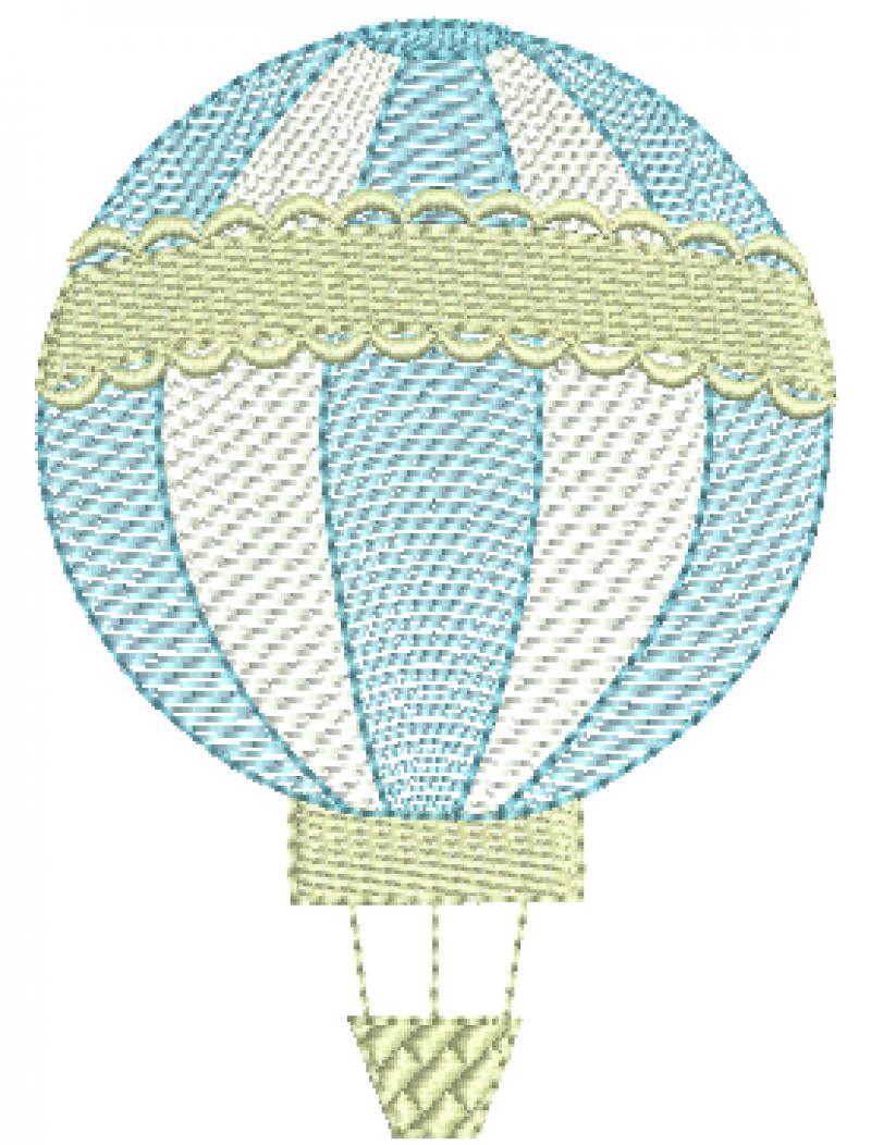 Balão com Faixa  Decorada- Rippled