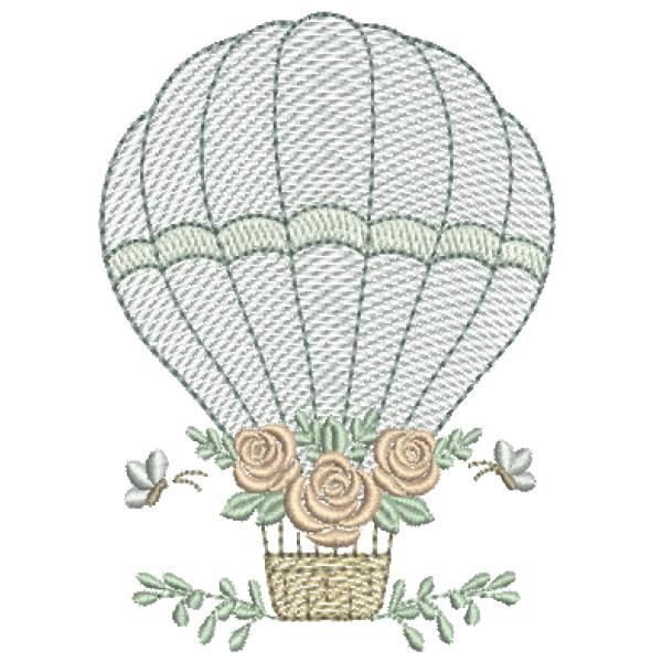Balão com Rosas - Pontos Leves