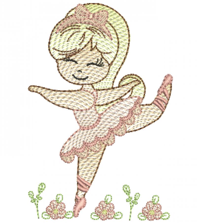 Bailarina com Tiara - Rippled
