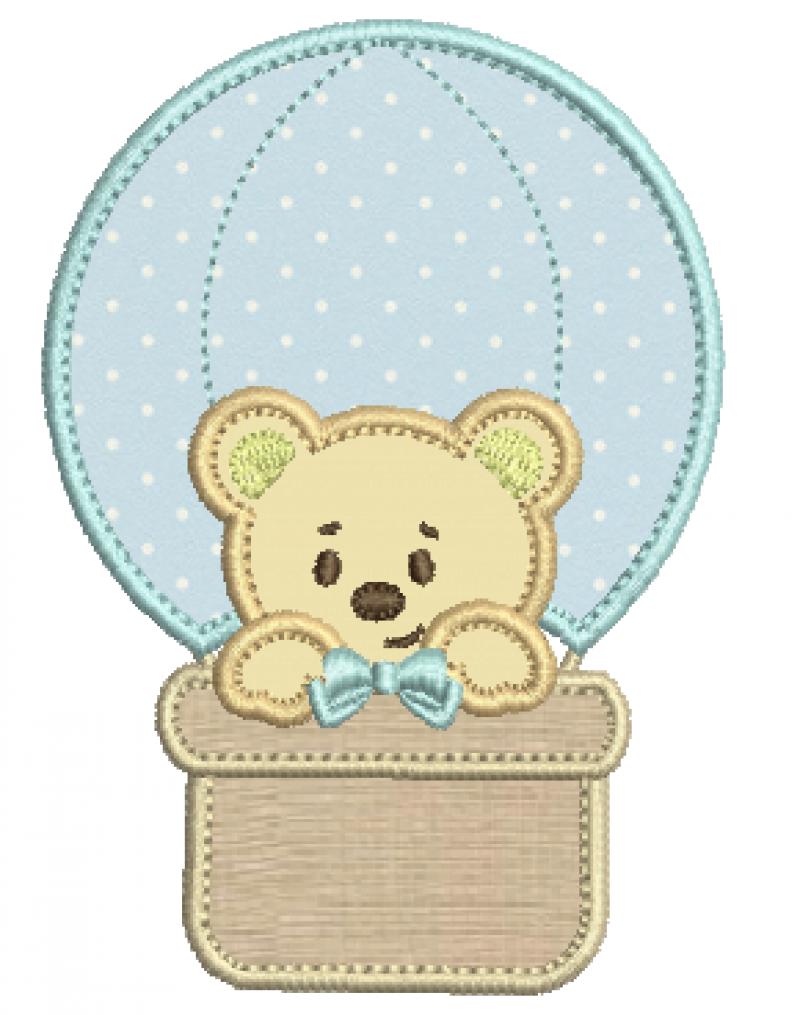 Urso no Balão - Aplique