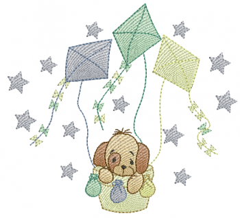 Cachorrinho no Balão de Pipas - Rippled