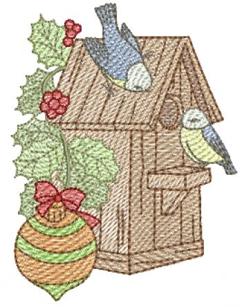Passarinhos na Casa e Ramo de Natal - Rippled