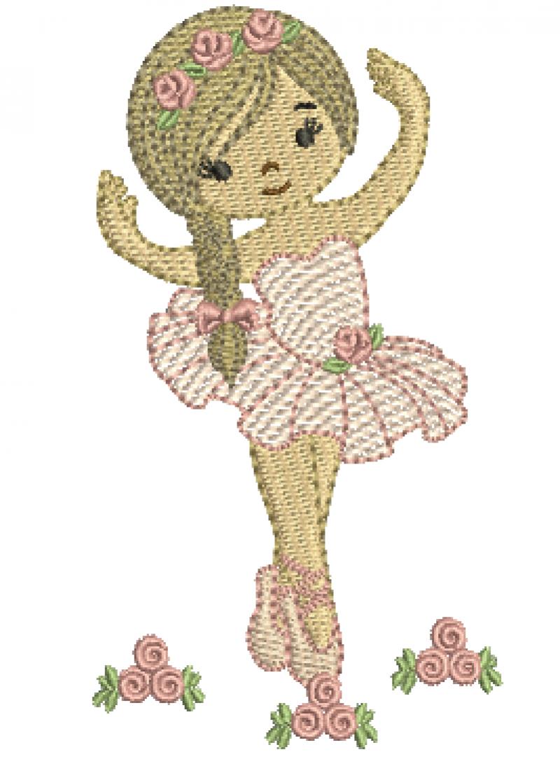 Bailarina de Tranças - Rippled