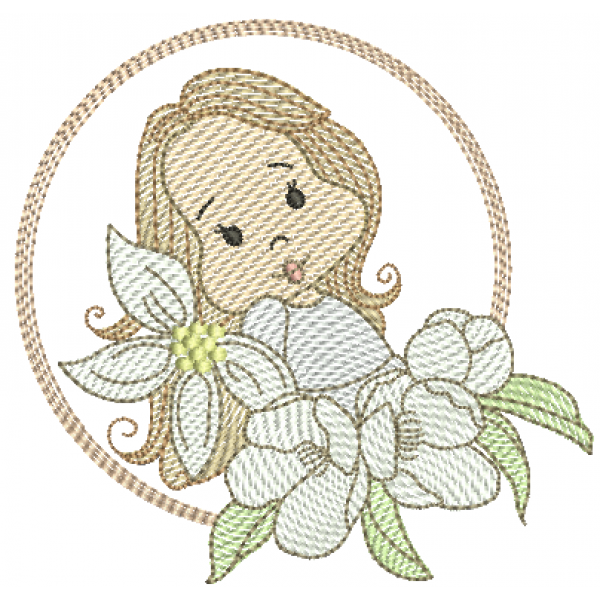 Menina Flores e Molduras - Pontos Leves