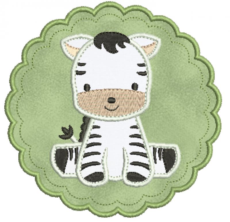 Zebra na Moldura – Aplique