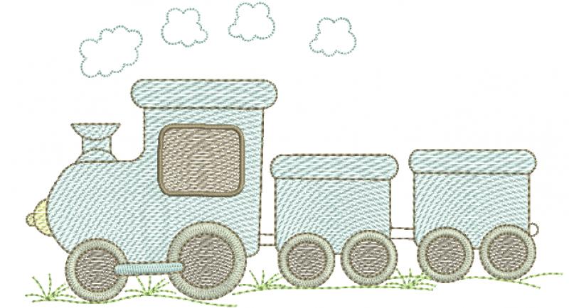 Trem com Vagões - Rippled