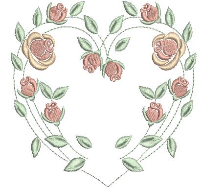 Coração de Rosas – Ponto Cheio