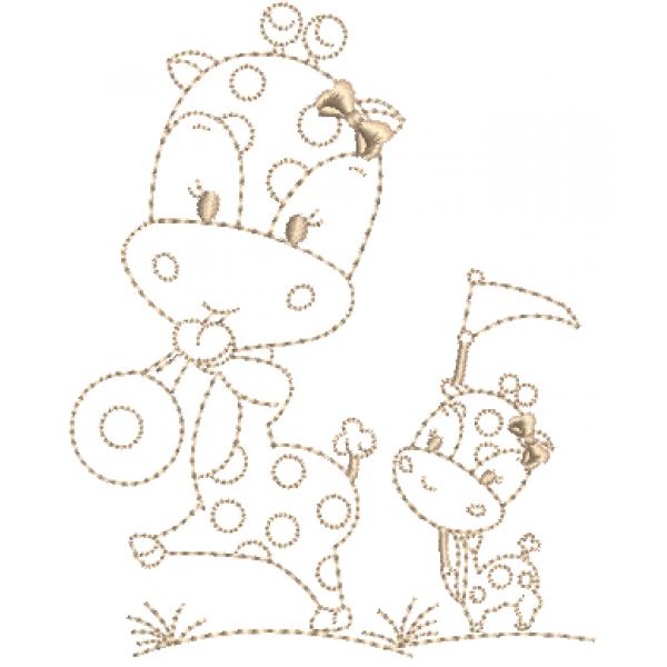 Girafa e Filhote  - Ponto Corrido