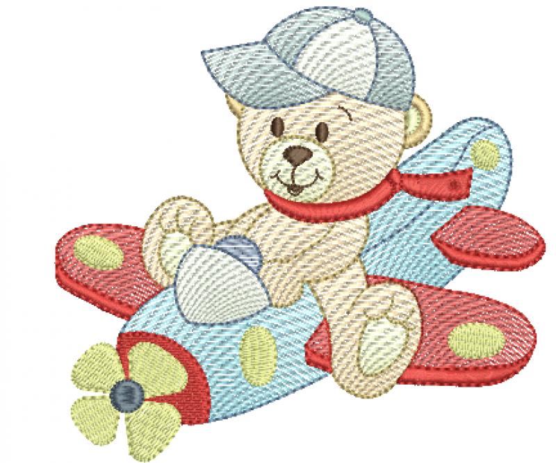 Urso Aviador de Boné - Roppled