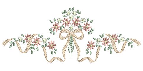 Laço com Florzinhas Delicadas