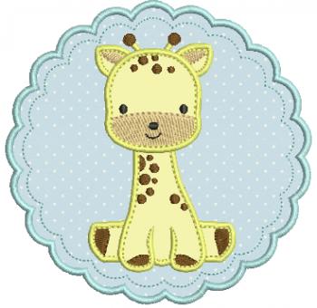 Girafa na Moldura - Aplique