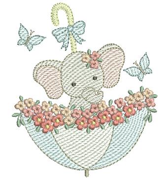 Elefante na Sombrinha - Rippled
